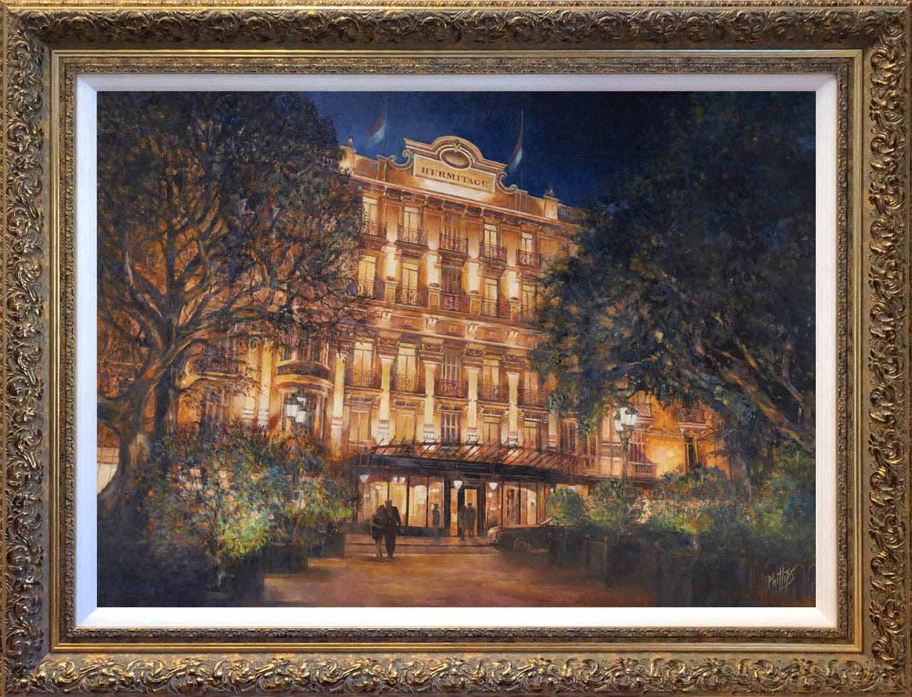 Painting of The Hermitage by Night