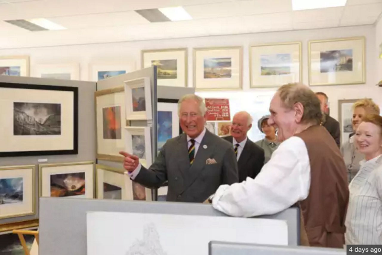 HRH The Prince of Wales at The Kirkharle gallery