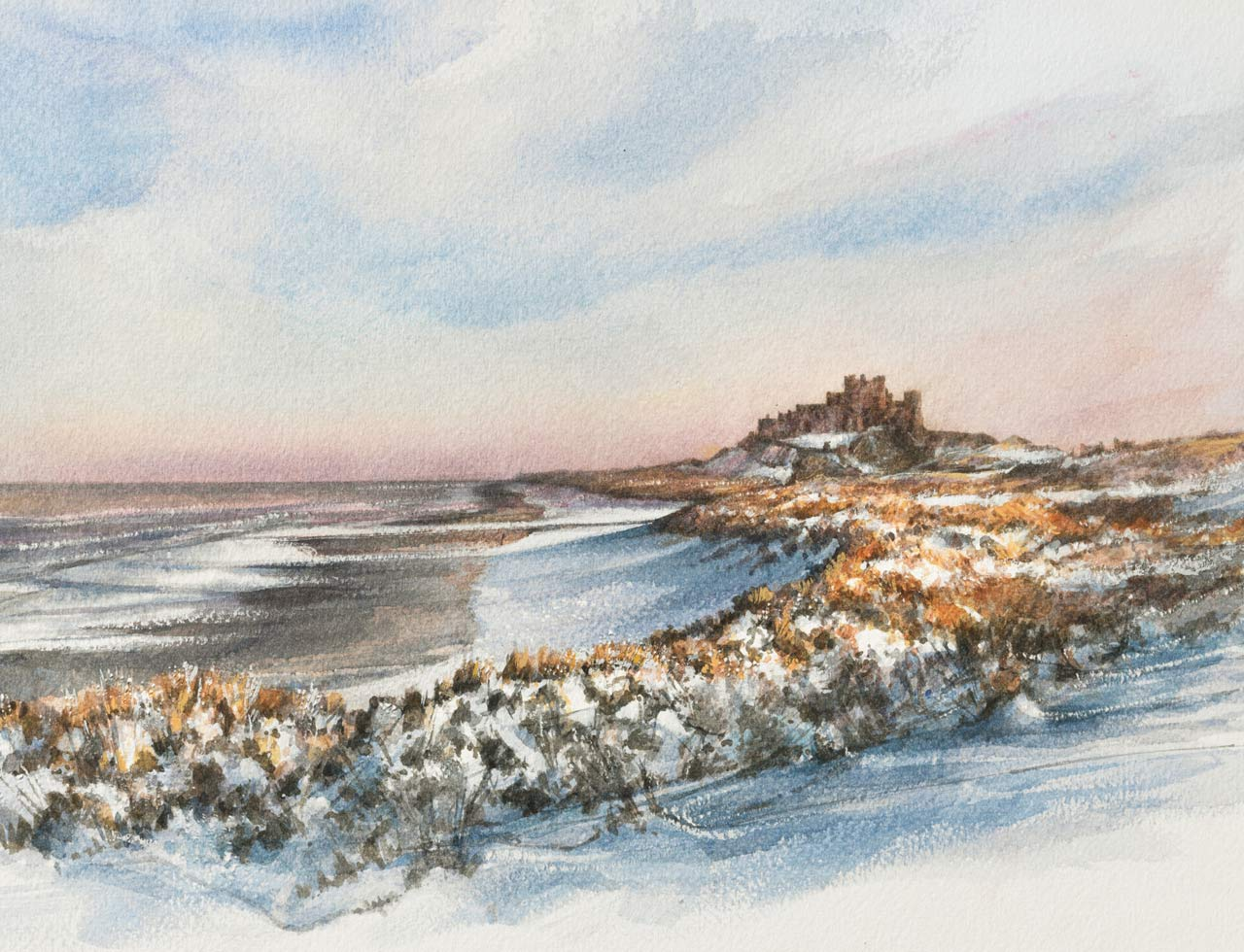 Painting of Bamburgh Castle