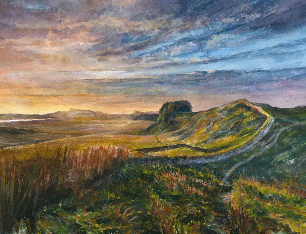 painting of hadrians wall